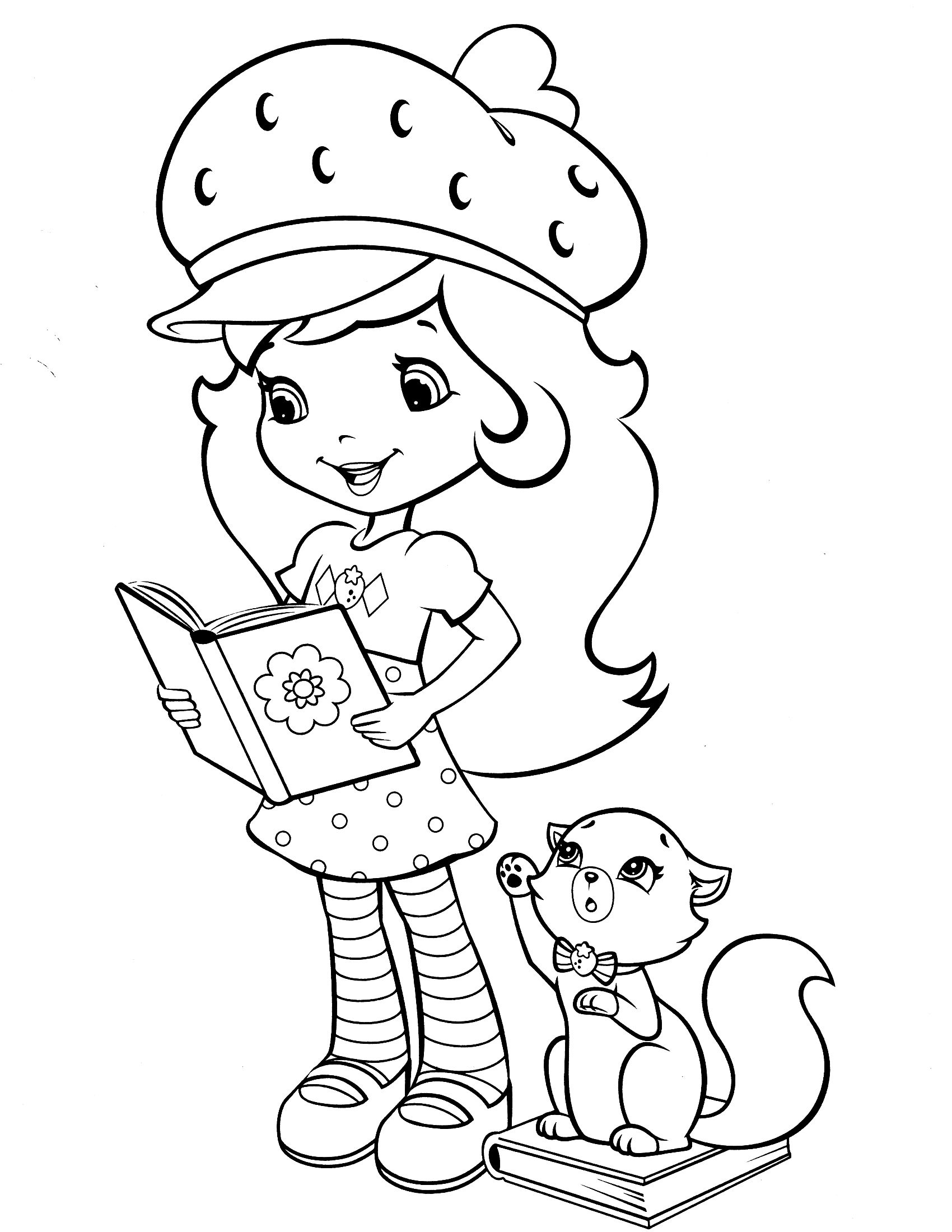 strawberry shortcake coloring page coloriages wow