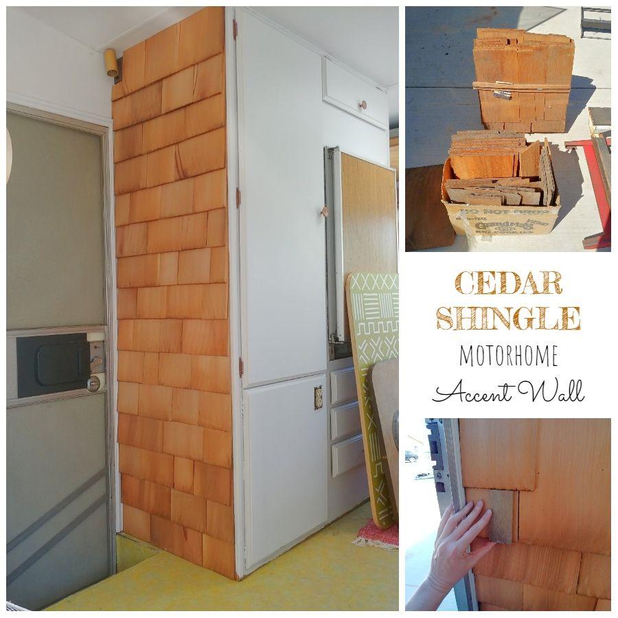 Best Cedar Shingle Motorhome Accent Wall Cedar Shingles 400 x 300