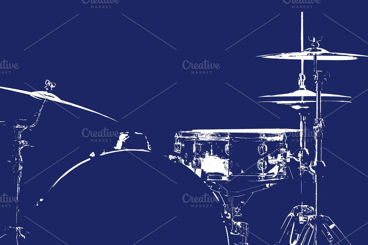 Photo of Drum kit silhouette #Sponsored , #Sponsored, #green#silhouette#drums#Drum