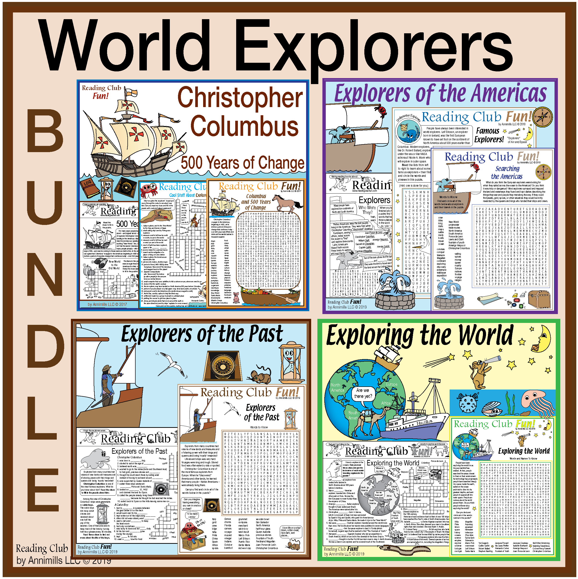 World Explorers Throughout History Bundle
