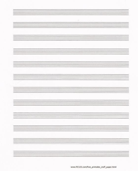 Free And Printable Staff Paper Rc123 Com Blank Sheet Music Sheet Music Free Printable Sheet Music