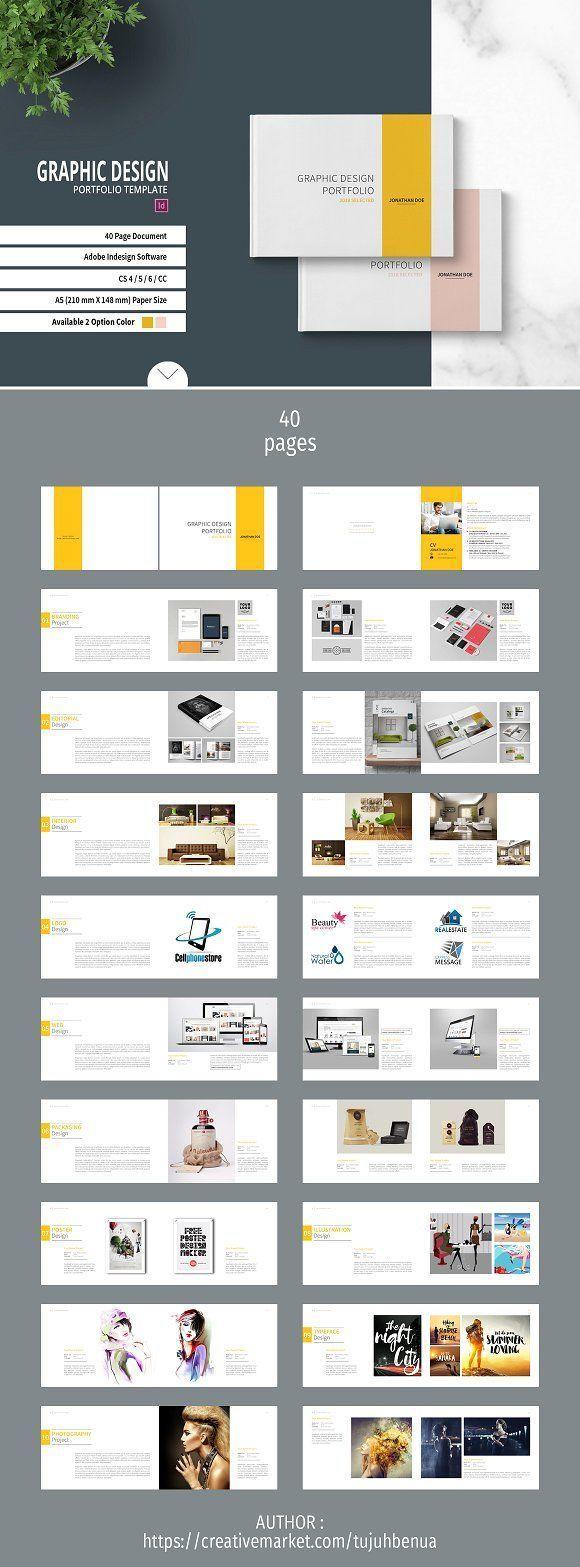 Graphic Design Portfolio Template Creativework247 Fonts Graphics Themes Template Portfolio Design Graphic Design Portfolio Book Portfolio Template Design