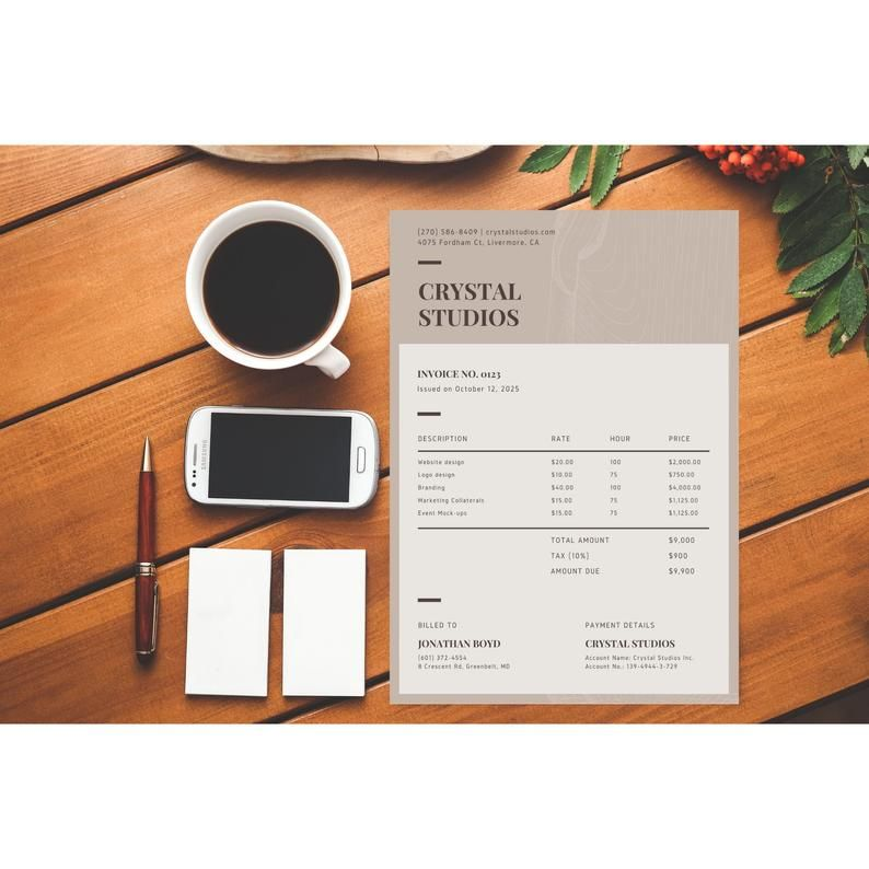 Brown Invoice Template Invoice Template Printable Invoice Template Printable