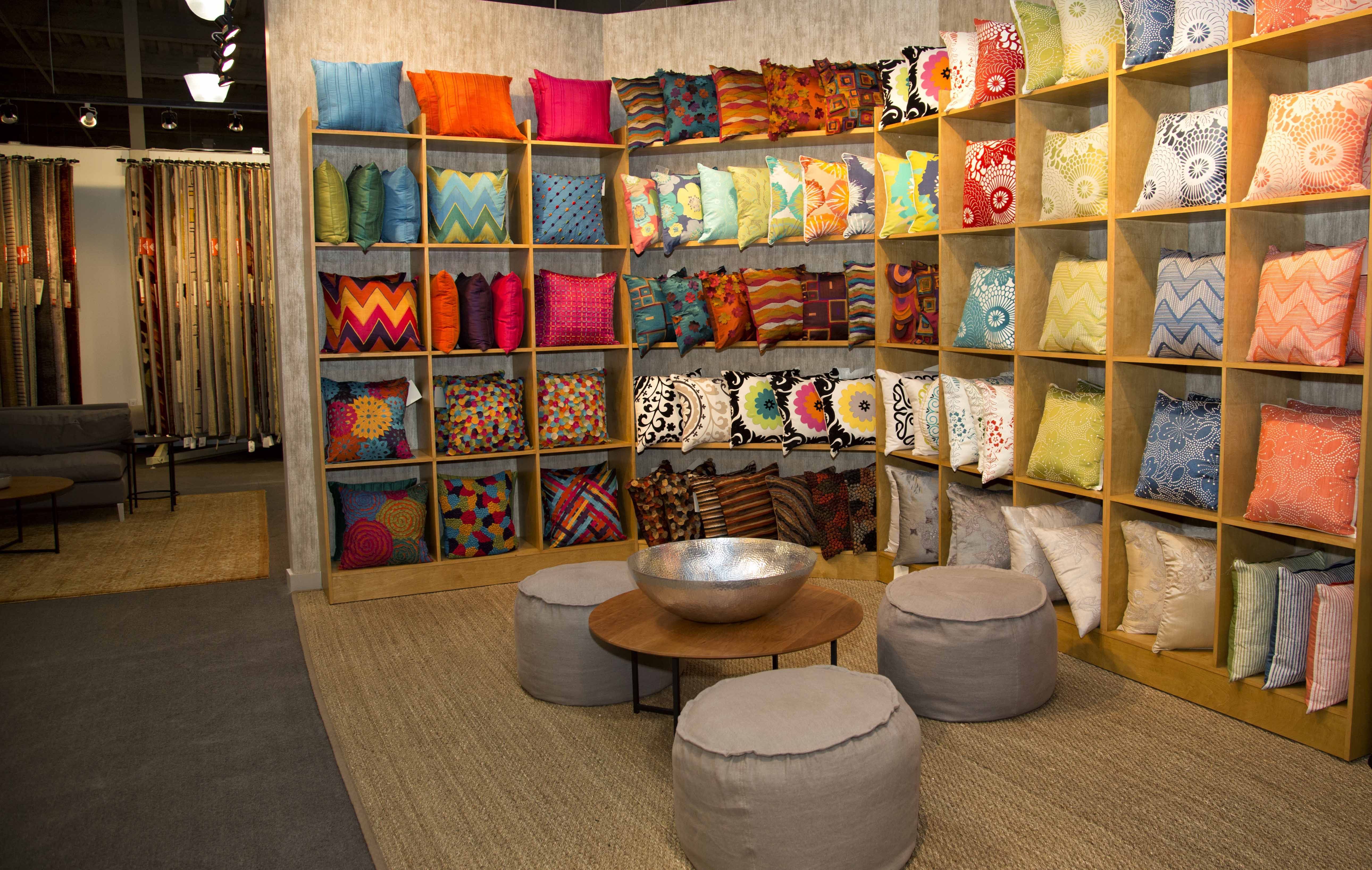 The Pillow Wall At The High Point Jaipur Showroom.
