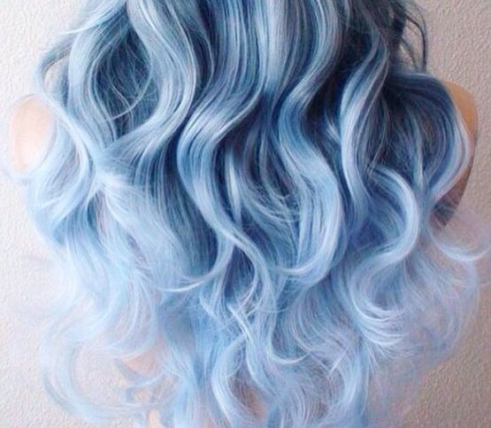 curly light blue hair hair pinterest