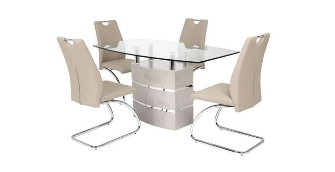 Piatto Fixed Dining Table And 4 Chairs Sala De Jantar Jantar