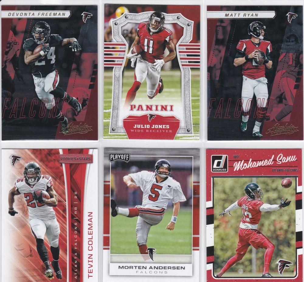 Atlanta Falcons 6 Football Card Lot Julio Jones Matt Ryan And More Atlantafalcons Football Cards Julio Jones Atlanta Falcons