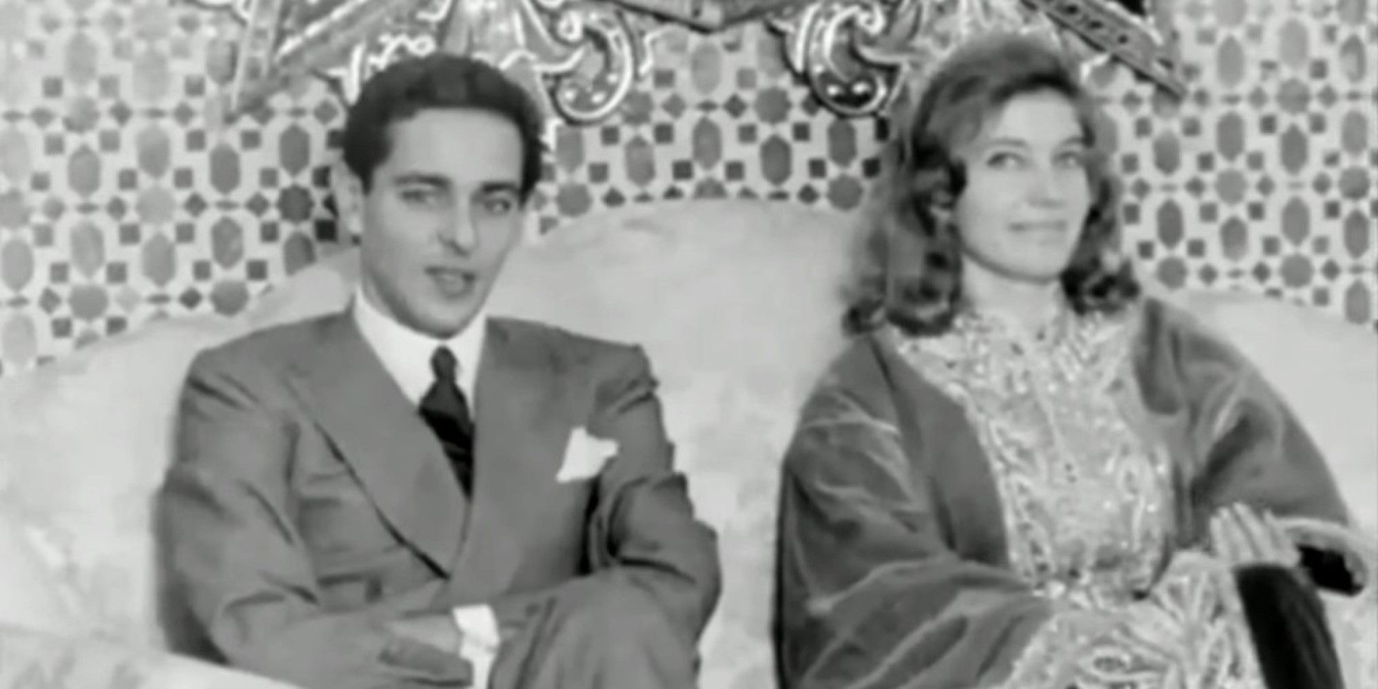 Prince moulay Abdallah, and his wife princess Lamia Solh