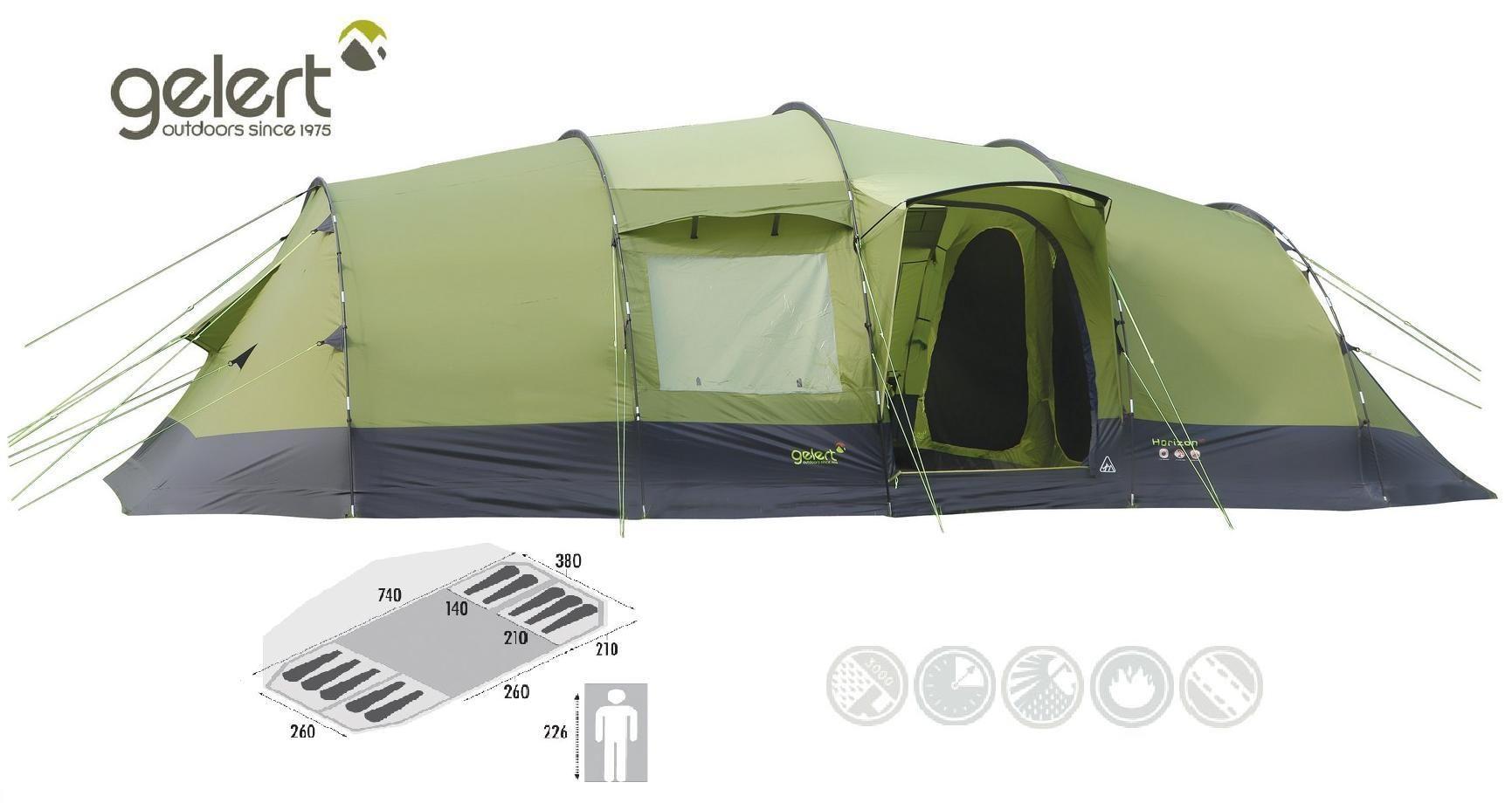 Gelert horizon 10 man family c&ing tent festival weekend tent 10 berth tent  sc 1 st  Pinterest & Gelert horizon 10 man family camping tent festival weekend tent 10 ...