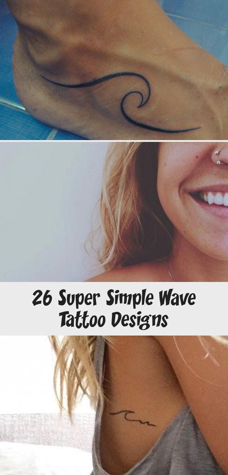 Photo of Minimalistic Wave Tattoo on Ribcage #minimaltattoomodels –  Minimalistic Wave Ta…
