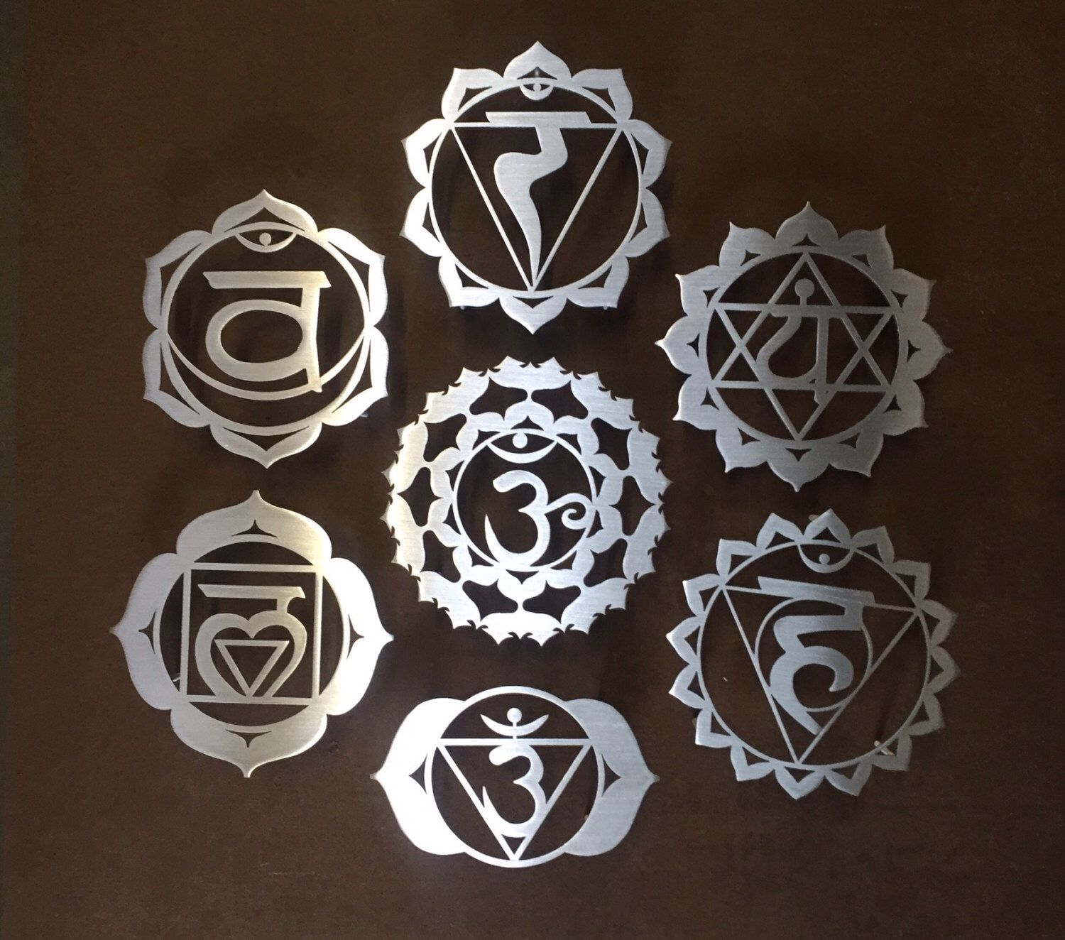 Chakra Symbols Metal Wall Art By Inspiremetals On Etsy Httpswww