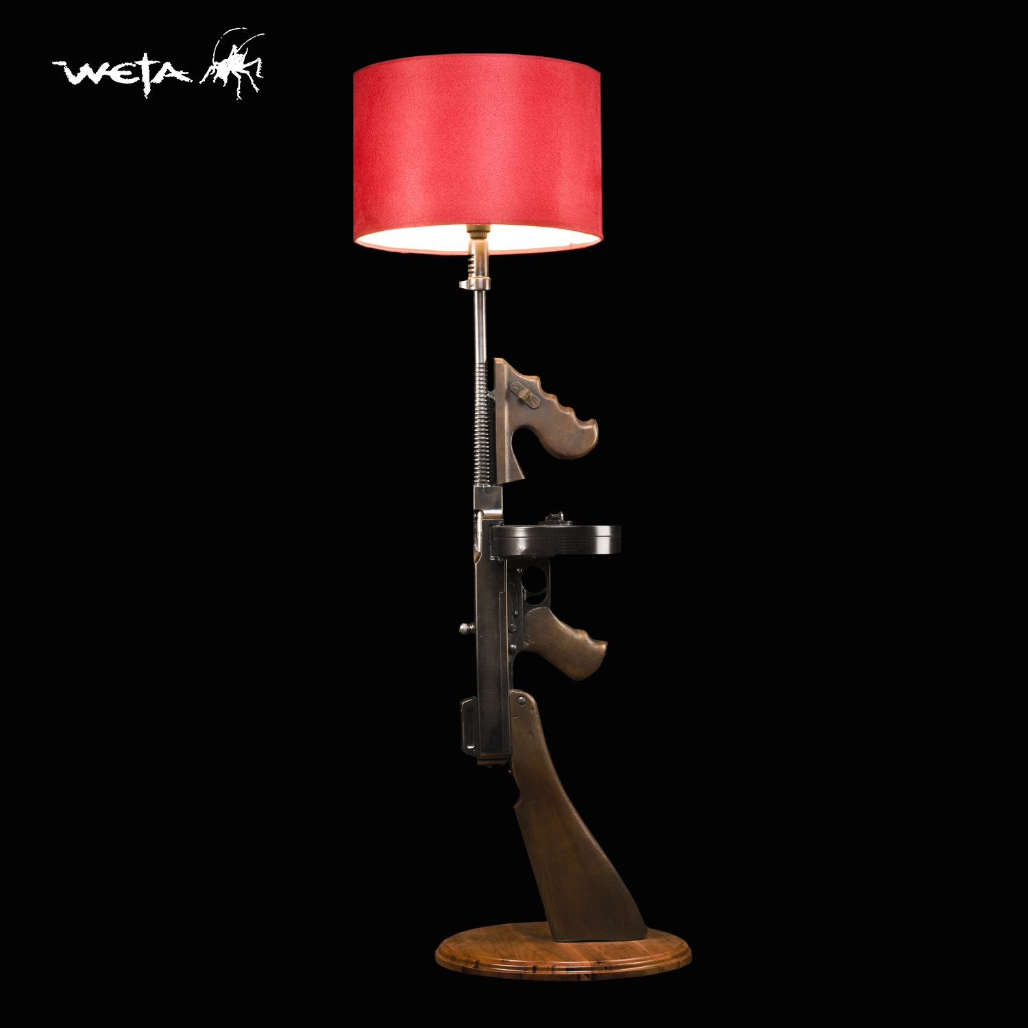 TOMMY GUN LAMP FOR THE MAN CAVE!