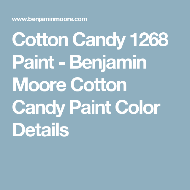 Cotton Candy 1268 Paint Benjamin Moore Color Details S Rooms Colors