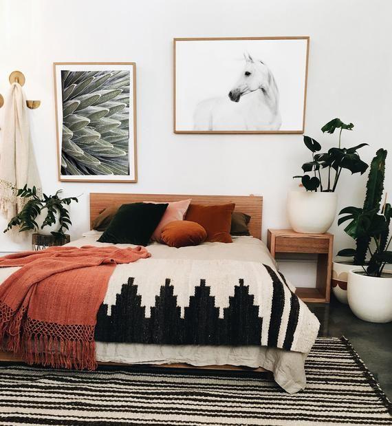 White horse photography, white horse printable art, horse print, horse print wall art, minimalist art, Scandinavian print, 24x36 printable