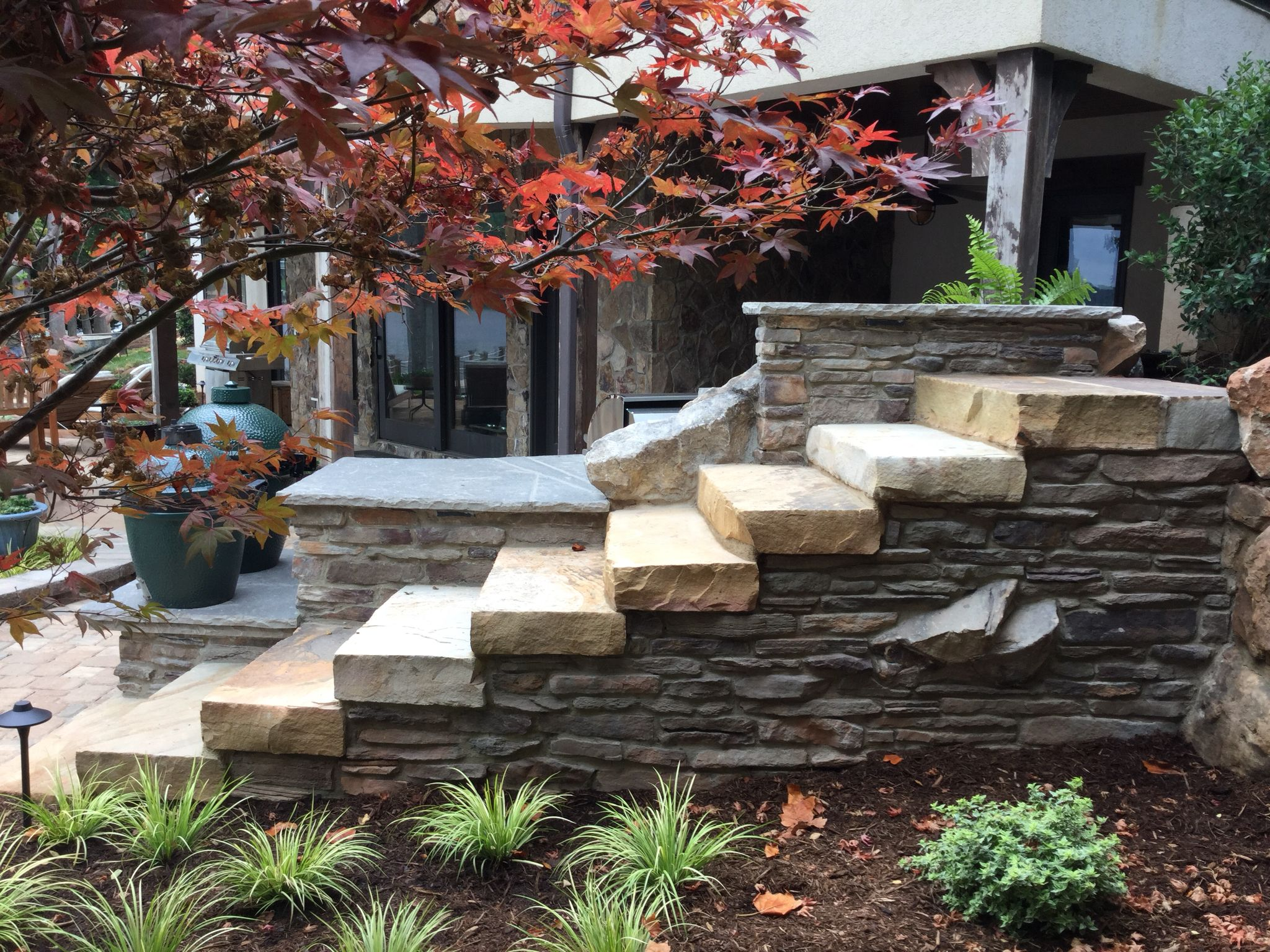 Natural Stone Steps And Cultured Stone Veneer · Stone VeneerStone  StepsNatural StonesLandscaping Gallery