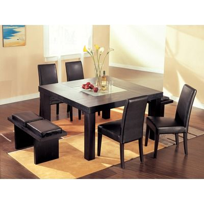 Global Furniture Usa Huntington 7 Piece Dining Set Dining Room Furniture Sets Contemporary Dining Room Furniture Square Dining Tables