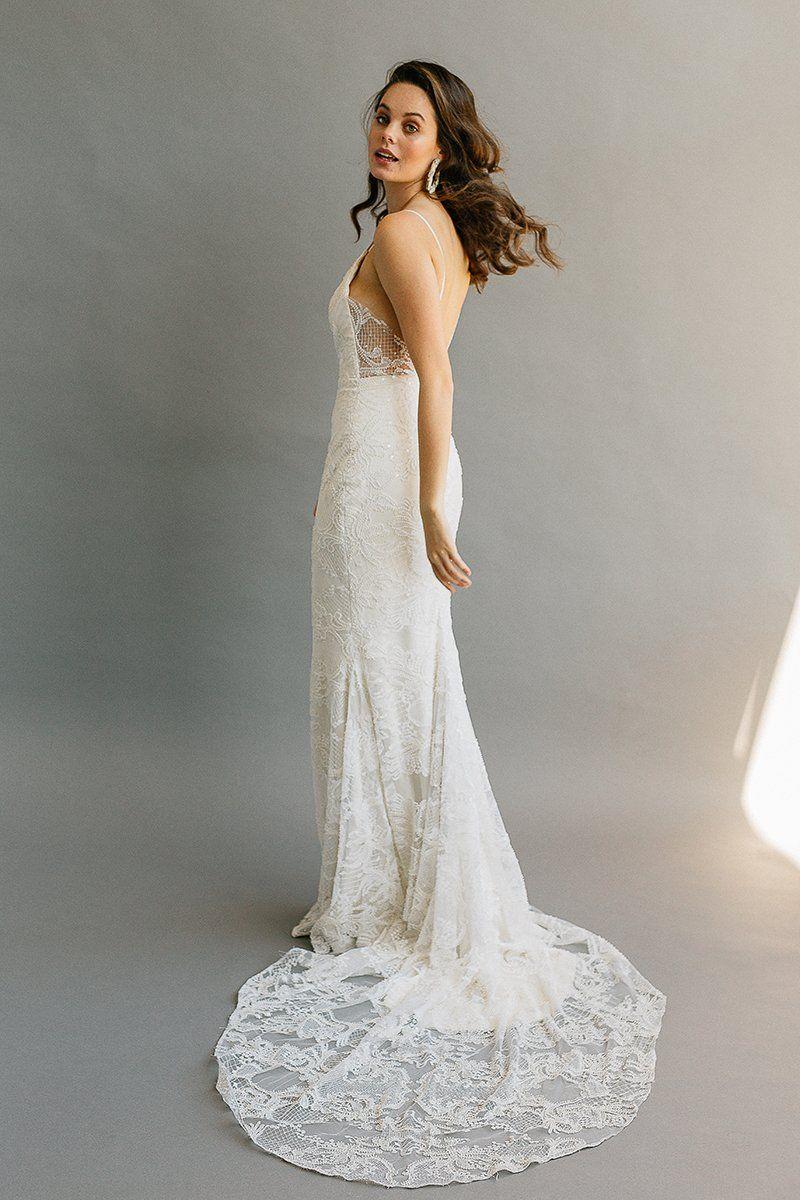 """Laudae """"Bree"""" Wedding Dress Sheath wedding dress, Bridal"""