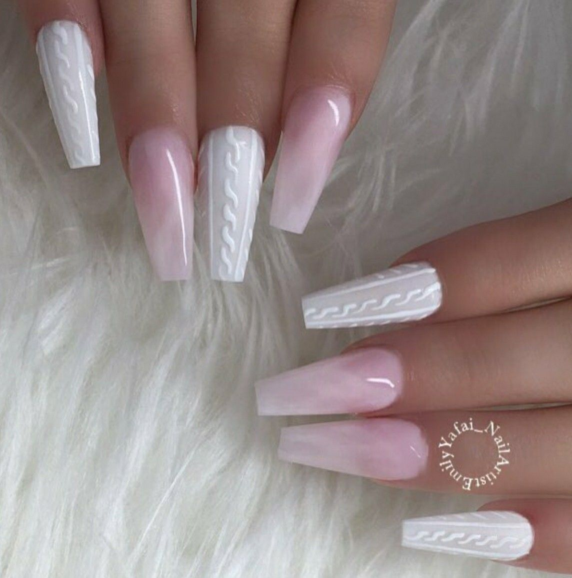 Ballerina Nails Sweater Nails Pink And White Nails Quartz Nails Acrylic Nails Gel Nails Sweater Nails Quartz Nail Ballerina Nails
