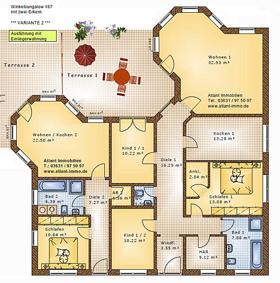 winkelbungalow 167 einliegerwohnung mit 2 erkern. Black Bedroom Furniture Sets. Home Design Ideas