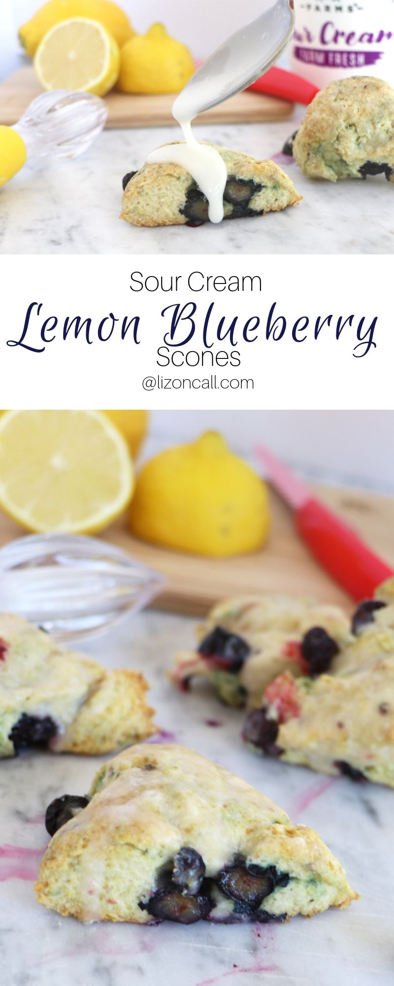 Lemon Blueberry Scones Liz On Call Recipe Blueberry Scones Sour Cream Scones Blueberry Scones Recipe