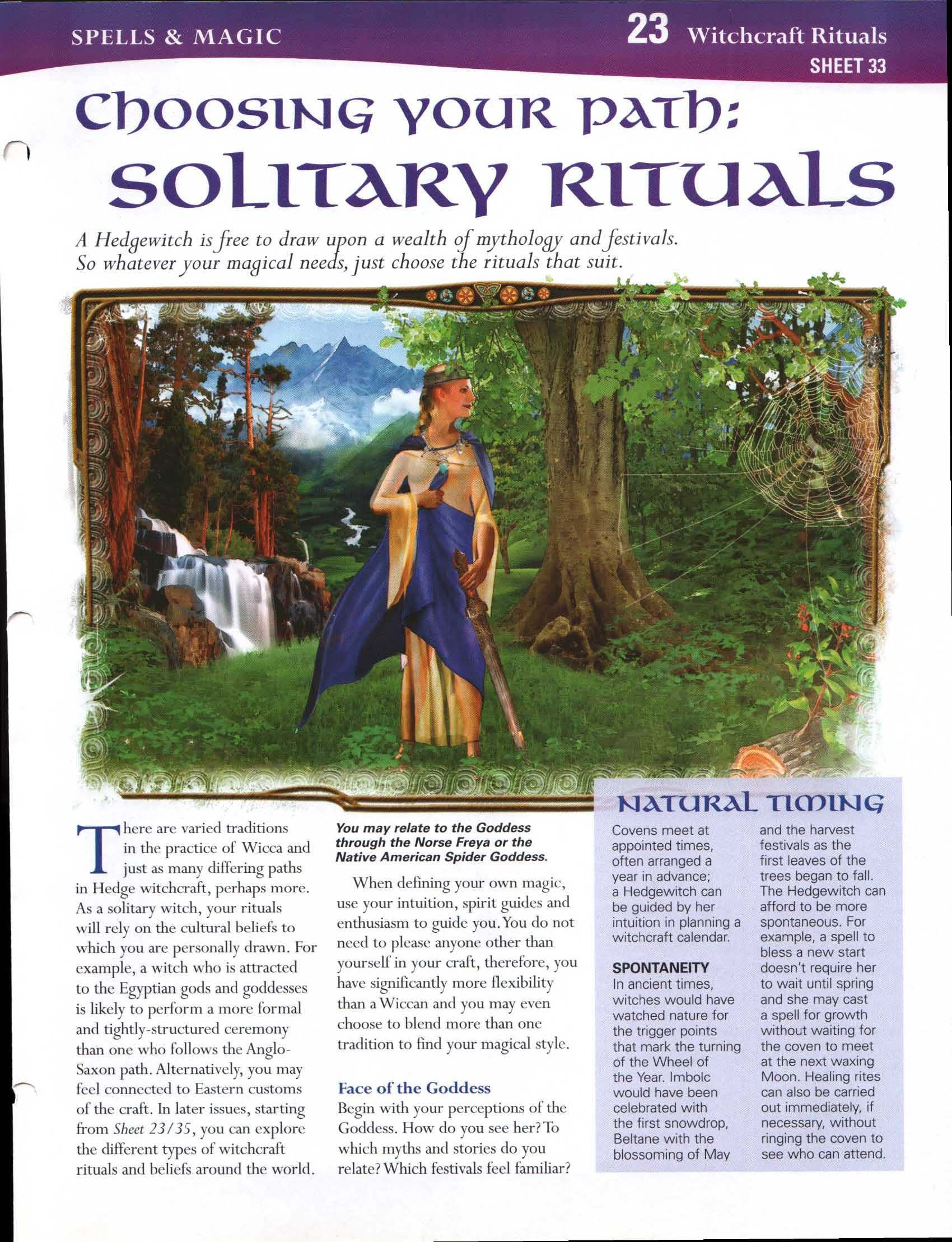 Choosing Your Path: Solitary Rituals | Pagan/wicca | Book of