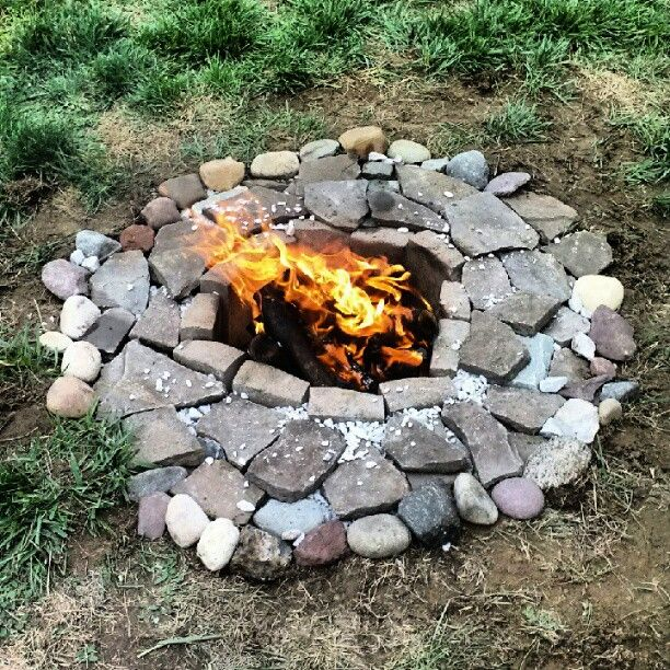 Homemade Fire Pit! (only $30 - Home Depot) In 2019