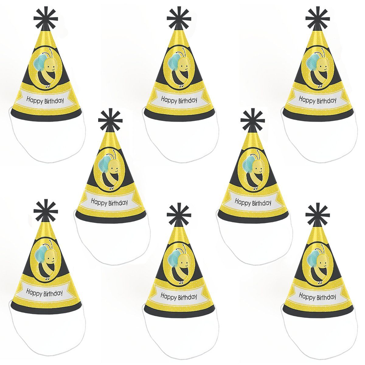 Honey Bee Cone Happy Birthday Party Hats For Kids And Adults Set Of 8 Standard Size Learn More By Visiting The Image Link This Is An Affiliate