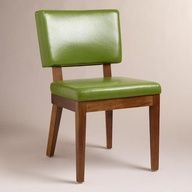 Green Bonded Leather Sophia Chair At Cost Plus World Market WorldMarket Emerald City Kitchen ChairsDining Room
