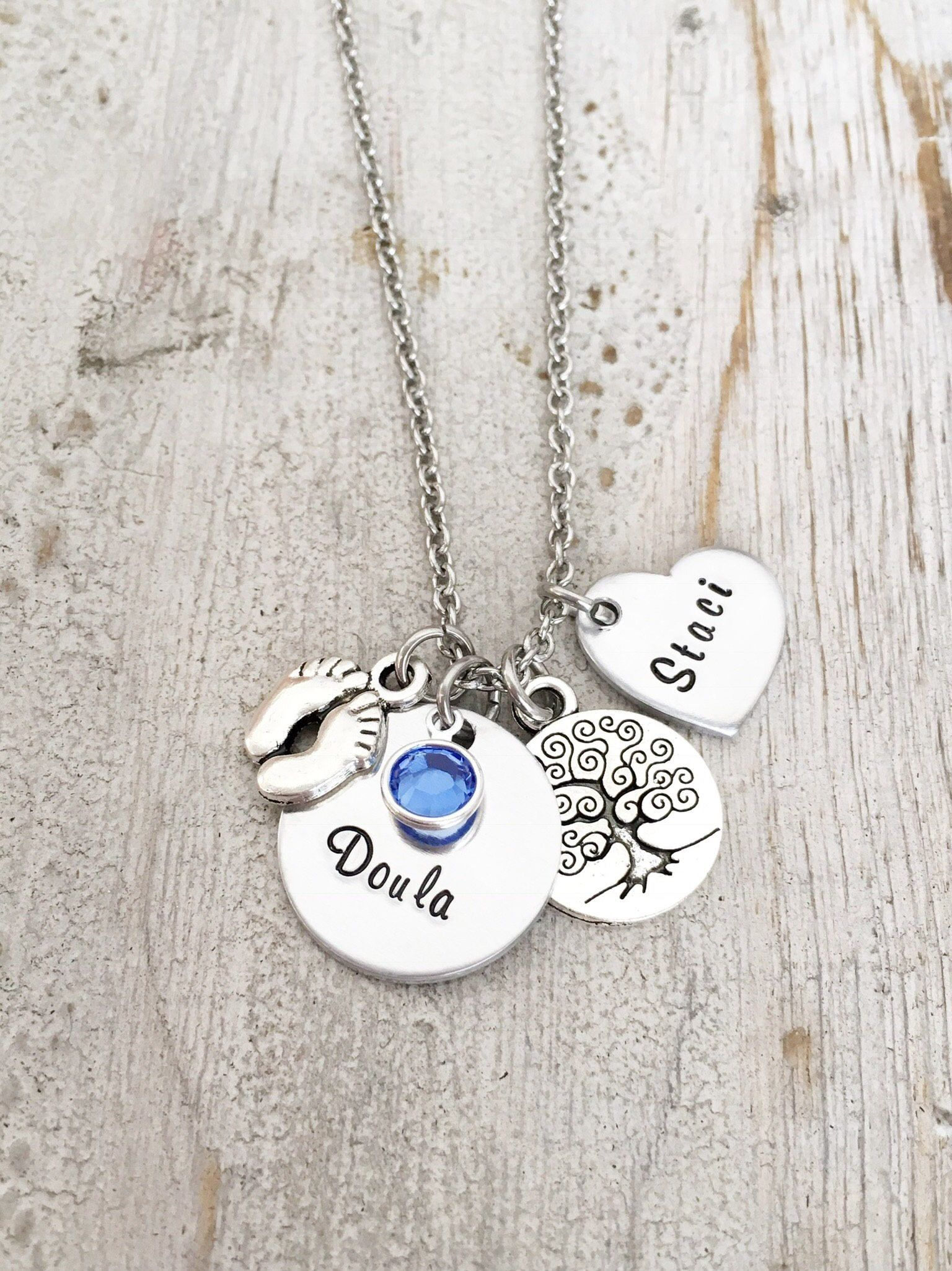 Doula necklace gift birth doula jewelry doula thank you gift doula necklace gift birth doula jewelry doula thank you gift doula jewelry gift doula certification gift nurse gift hand stamped by on etsy aiddatafo Image collections
