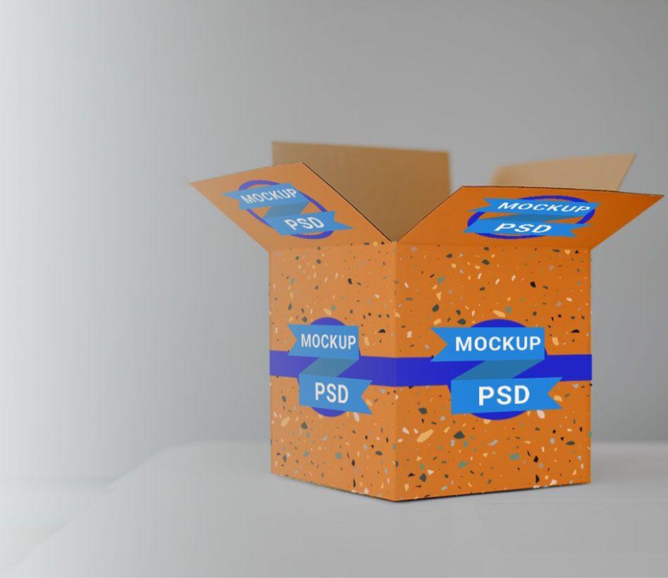 Download Free Open Cardboard Box Mockup Psd Box Mockup Mockup Mockup Psd