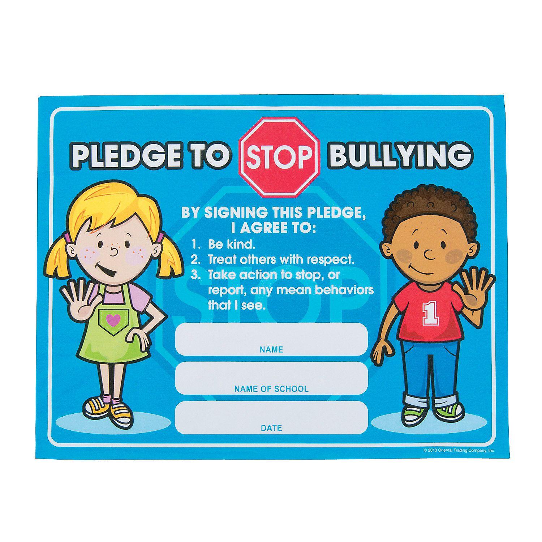 Anti Bully Pledge Certificates