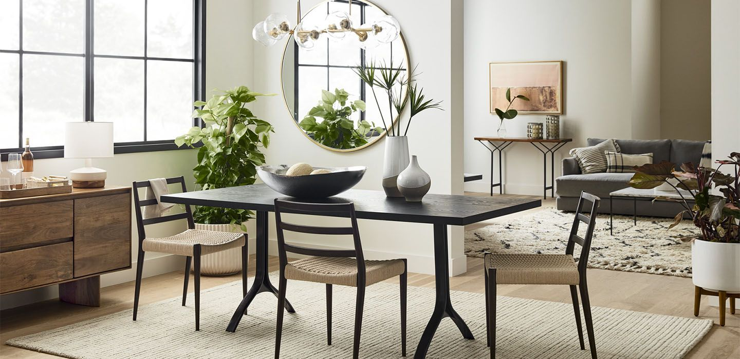 Avery Wishbone Dining Table in 2020 Dining room