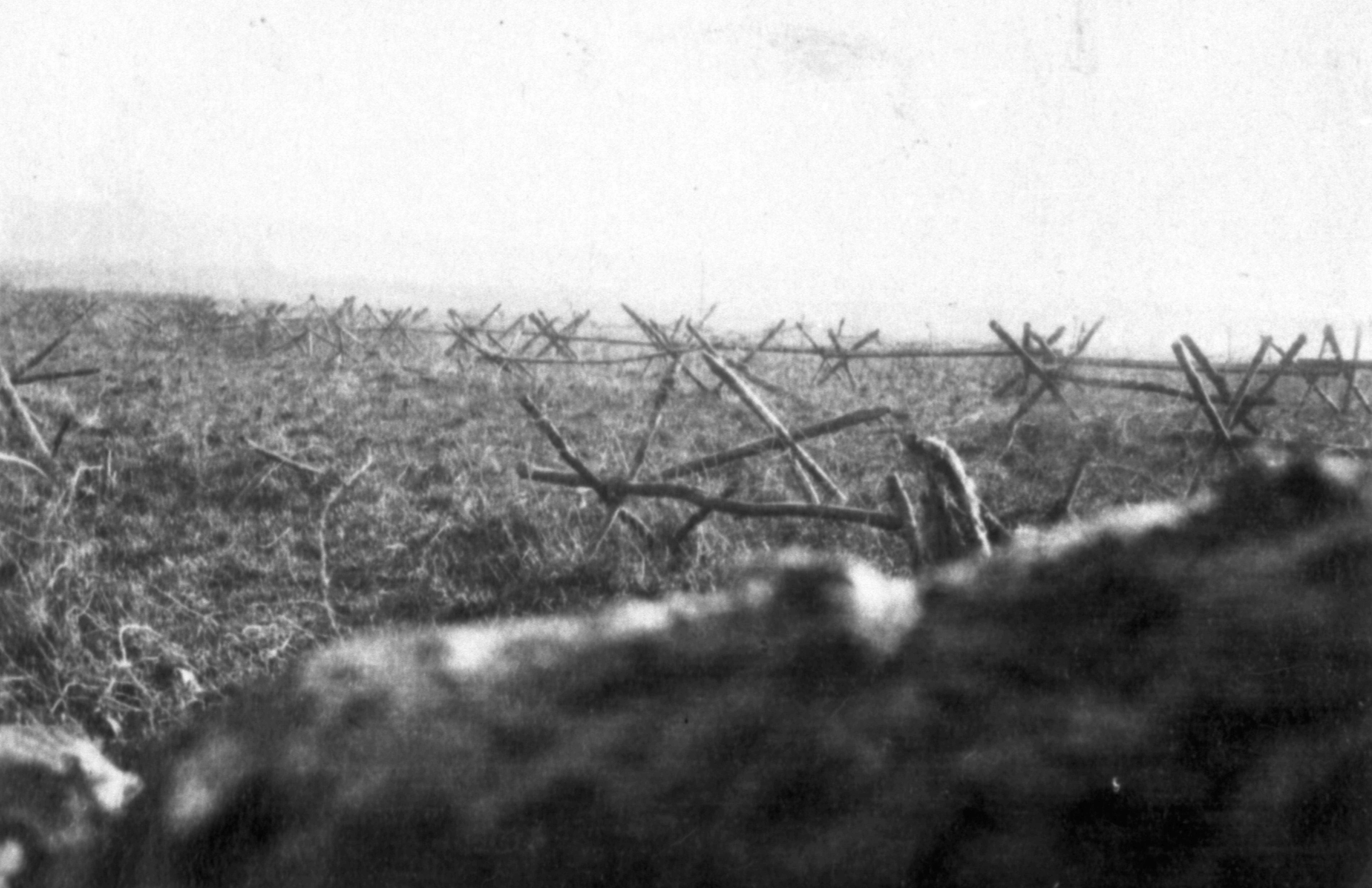 No Man's land was an area between two trenches of opposing sides during  World War One