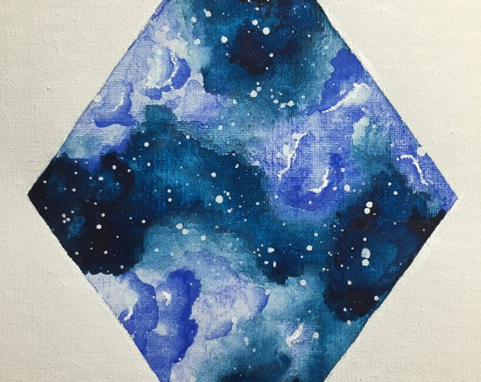Beautiful Hand Painted Watercolor Galaxy Perfect For Any
