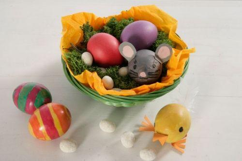Kostenlose Osterbastei Bunte Eier Tiere Zum Basteln