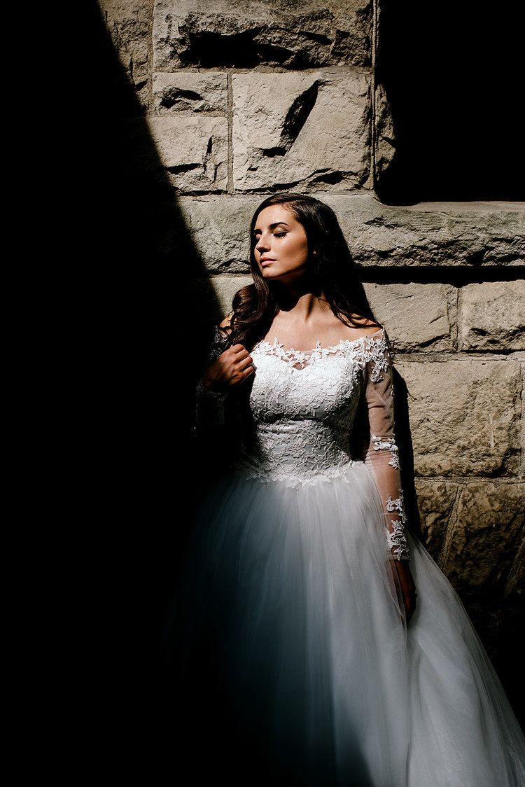 Edgy wedding dresses  How stunning is this lighting Love this edgy bridal portrait