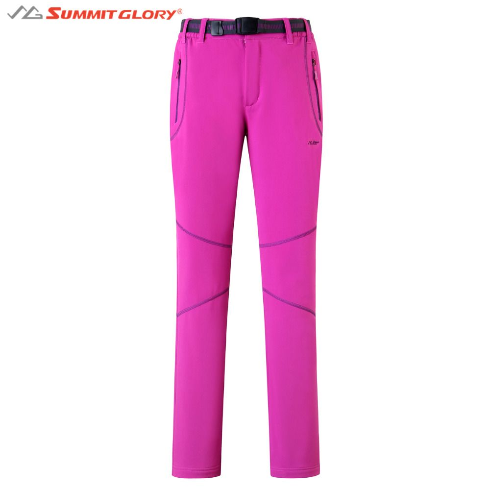 Women's Complex Fleece Softshell Pants SG SUMMIT GLORY Brand Ladies Camping Hiking Trousers Winter Thermal Outdoor Clothing