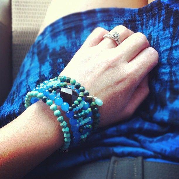LOVE @Beth Niehaus blue #armparty #kvbijou