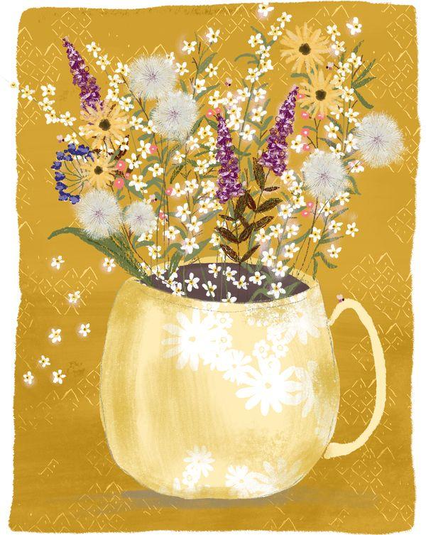 Wildflowers Gathered Still Life by Joy Laforme on Artfully Walls