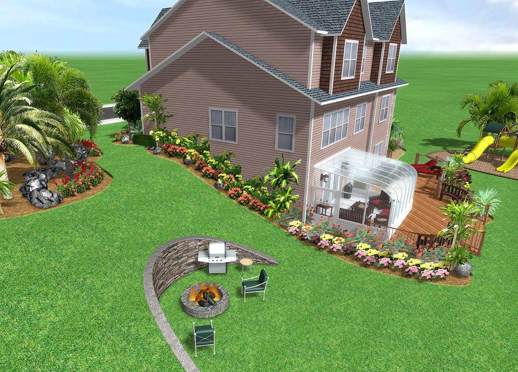 Incline Landscaping Landscape Design Software By Idea Spectrum Realtime Landscaping Backyard Landscaping Designs Landscape Design Software House Landscape