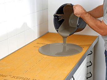 k chenarbeits platten selber machen heimwerkermagazin concrete arbeitsplatte k che k che. Black Bedroom Furniture Sets. Home Design Ideas