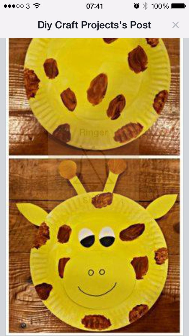 Paper plate giraffe  sc 1 st  Pinterest & Paper plate giraffe | Preschool - Zoo Animals | Pinterest | School