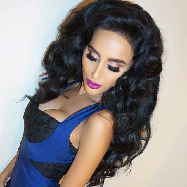 """Later-Glam : Makeup by @priscillaono using @LillyLashes human hair lashes : Hair by @fpinasco using www.LillyHair.com clip in extensions by #BellamiHair : Dress from @WantMyLook  #Ghalichiglam #LillyLashes #LillyHair"" Photo taken by @lillyghalichi on Instagram, pinned via the InstaPin iOS App! http://www.instapinapp.com (01/30/2015)"