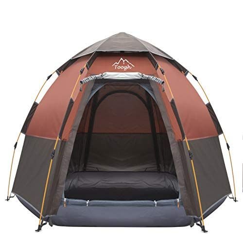Toogh 4 Person Camping Tent 4 Seasons Backpack Tents Sun ...