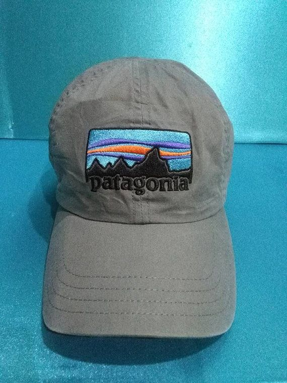 621ac5cf296 vintage PATAGONIA hat cap big logo adjustable back by HatcapStore