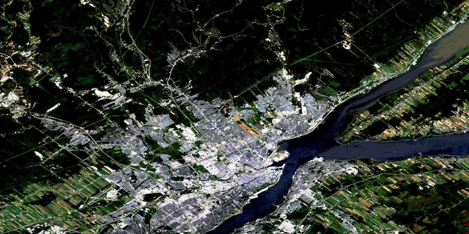 Quebec Qc Free Satellite Image Map 021l14 At 1 50 000 Satellite Image Map Satellite Image Aerial Photo