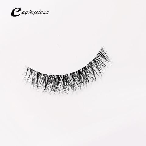 b15977a5f79 Top sale 3D Mink Lashes Natural HandMade Full Strip Lashes Transparent  terrier Short Mink Lashes Style