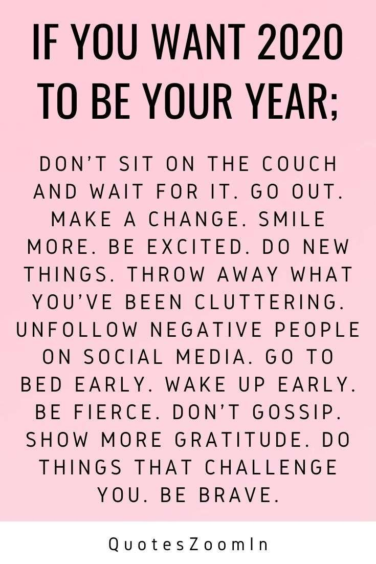 New Year 2020 Happy Wishes New Year Motivational Quotes Quotes About New Year Be Yourself Quotes