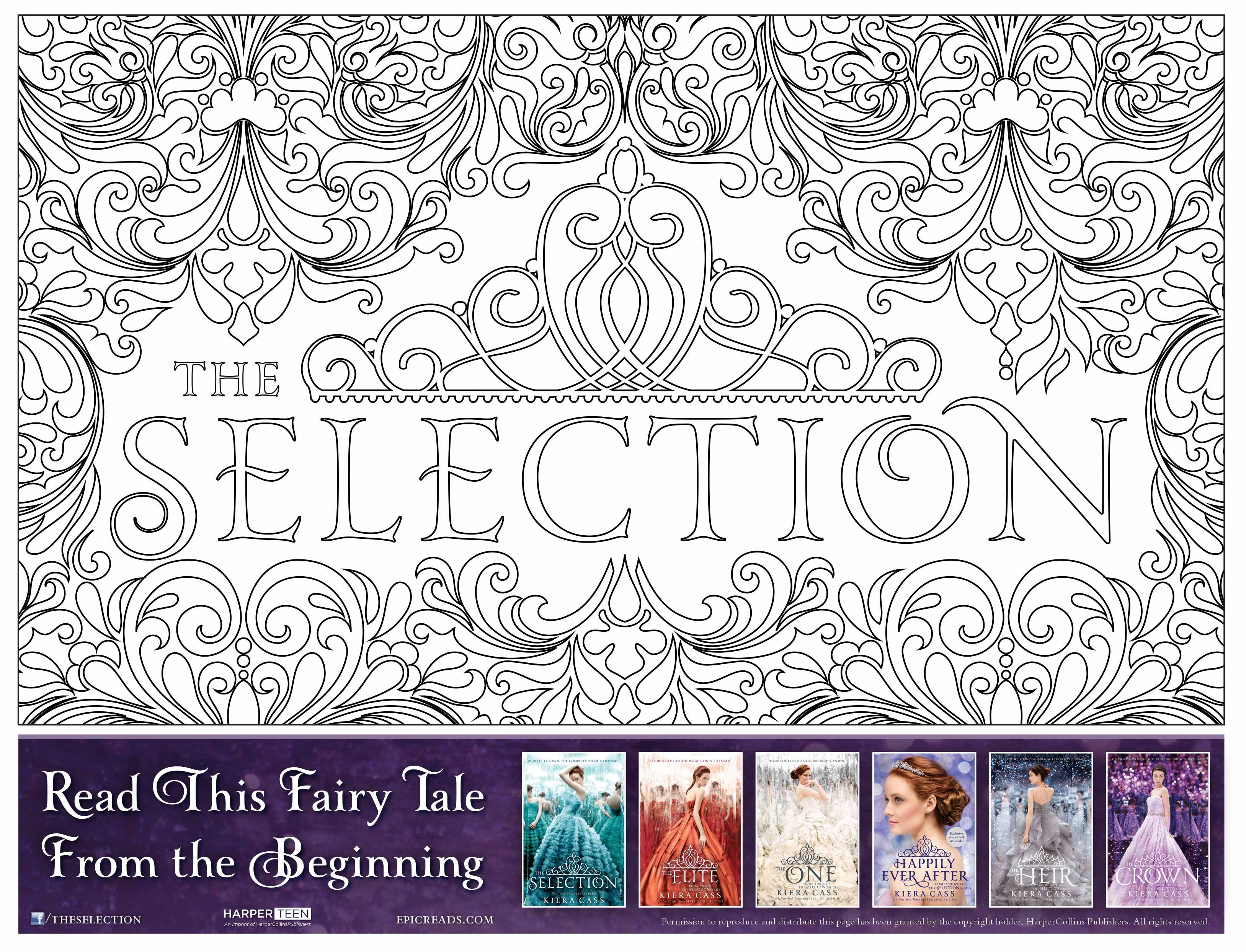 - You Deserve This Free Selection Coloring Page The Selection, The