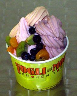 my poor husband, I'm always nagging him to take me to get frozen yogurt across town. Kinda obsessed w/it.